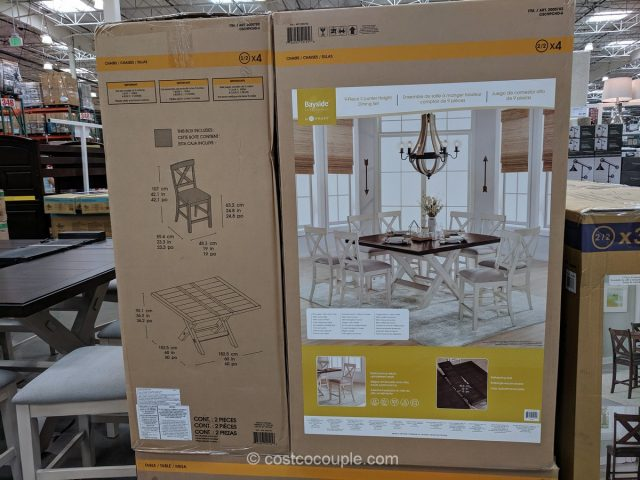 Bayside Furnishings Stefan Counter Height Dining Set Costco
