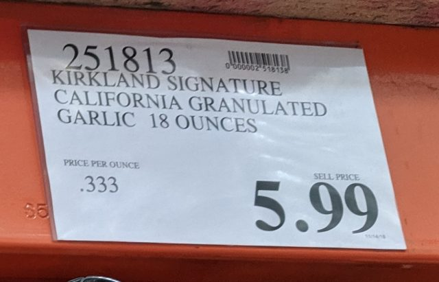 Kirkland Signature Granulated California Garlic Costco