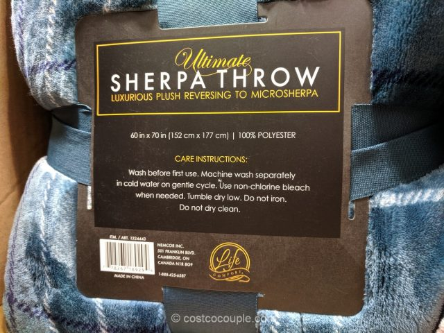 Life Comfort Ultimate Sherpa Throw Costco