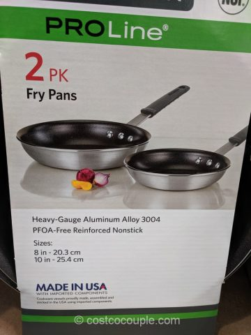 Tramontina Proline 2-Piece Nonstick Fry Pan Set Costco