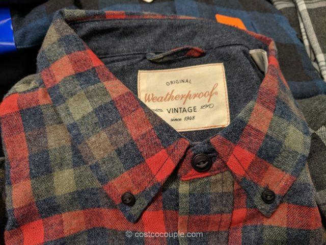 Weatherproof Vintage Mens Flannel Shirt Costco