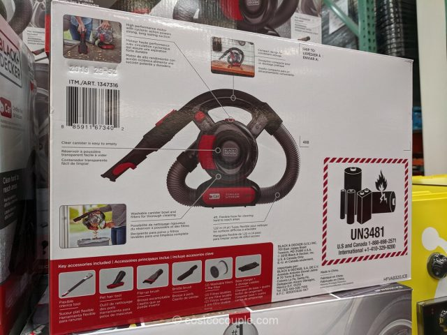 Black and Decker Cordless Flex Car Vacuum Costco