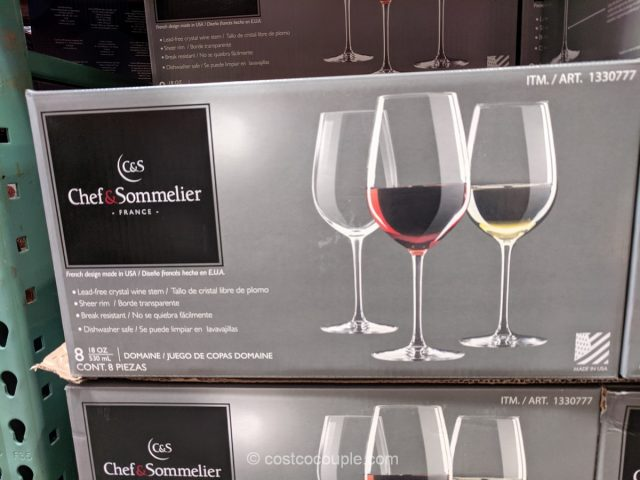 Chef and Sommelier Crystal Wine Stem Costco