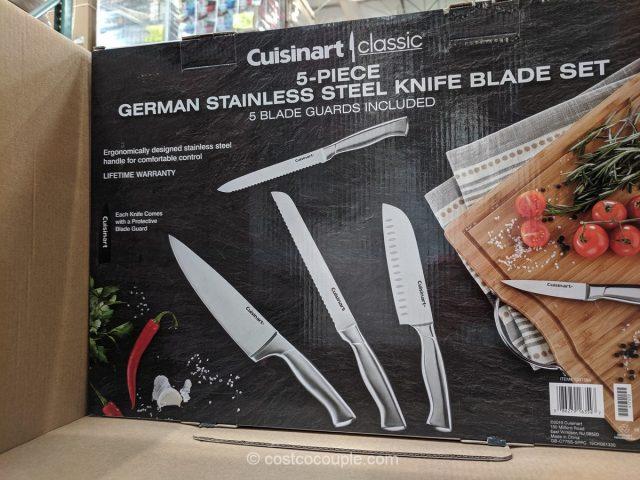 Cuisinart 5-Piece German Stainless Steel Knife Blade Set Costco