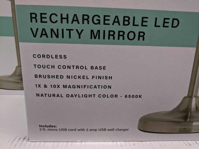 Feit Rechargeable LED Vanity Mirror Costco