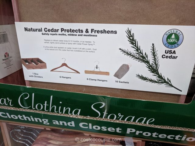 Household Essentials Cedar Closet Kit Costco