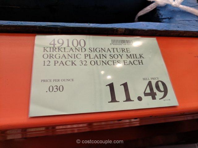 Kirkland Signature Organic Plain Soy Non-Diary Beverage Costco 2