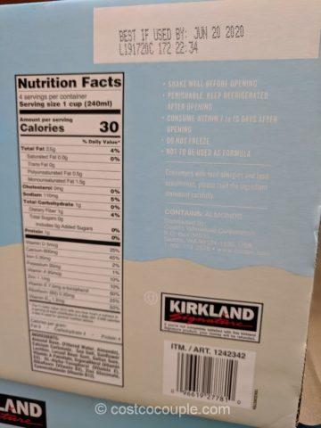 Kirkland Signature Unsweetened Almond Non-Diary Beverage Costco