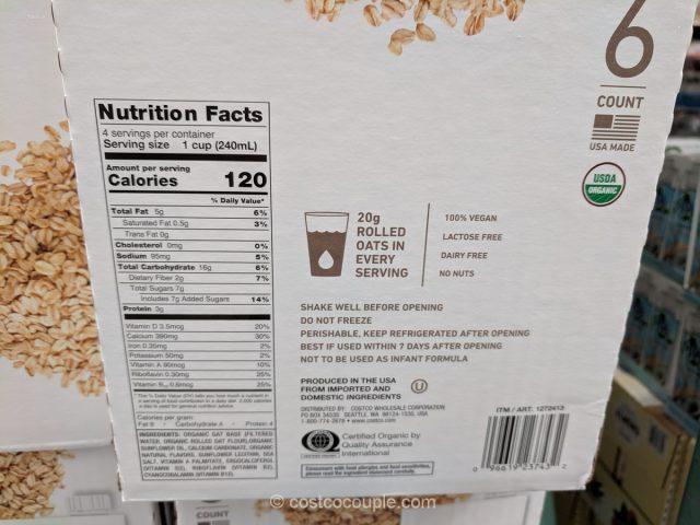 Oat Organic Non-Diary Beverage Costco