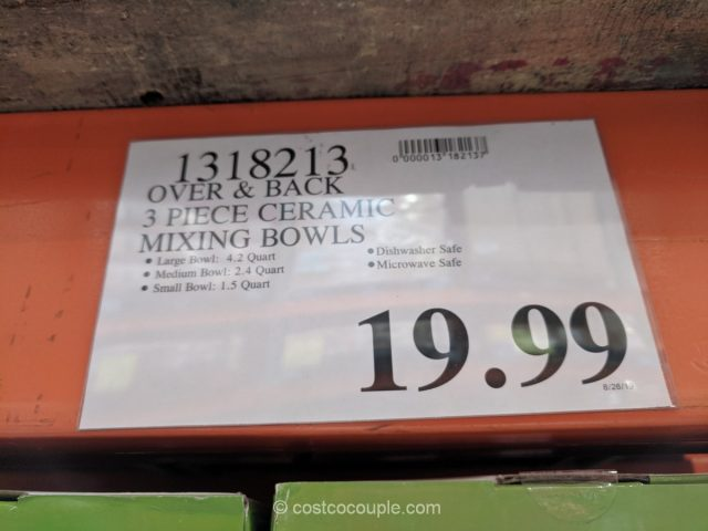 Over and Back Ceramic Bowl Set Costco