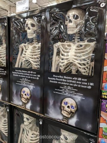 Pose-N-Stay Skeleton with LED eyes Costco