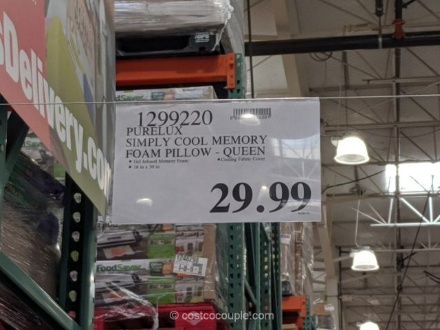 PureLux Simply Cool Gel Memory Foam Pillow Costco