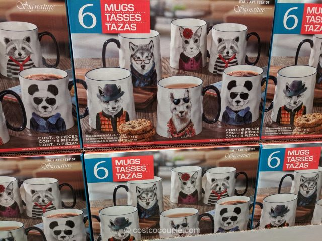 Signature Stoneware Animal Mug Set Costco