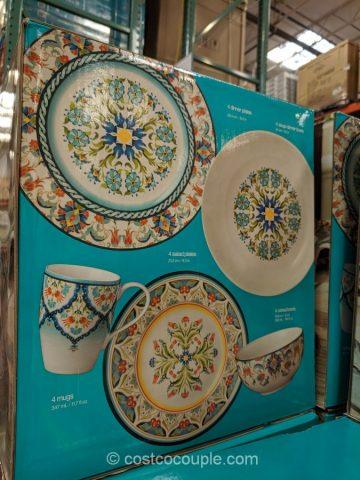 222 Fifth Tunisia Porcelain 20 Piece Dinnerware Set