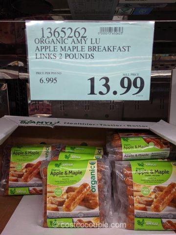 Amy Lu Organic Apple Maple Breakfast Links Costco