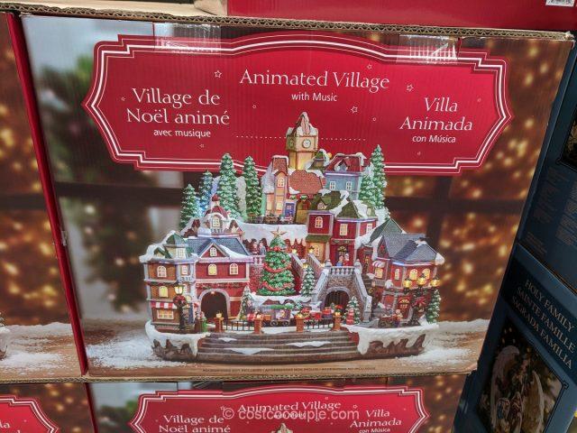 Animated Winter Train Village Costco