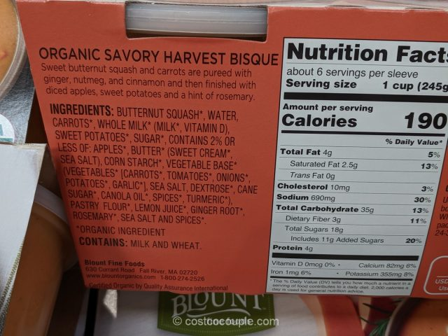 Blount Organic Savory Harvest Bisque Costco