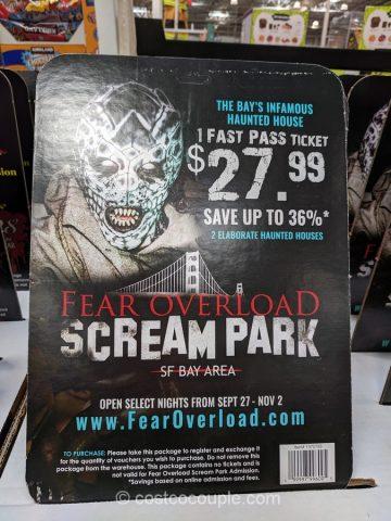 Fear Overload Scream Park 2019 Ticket Costco