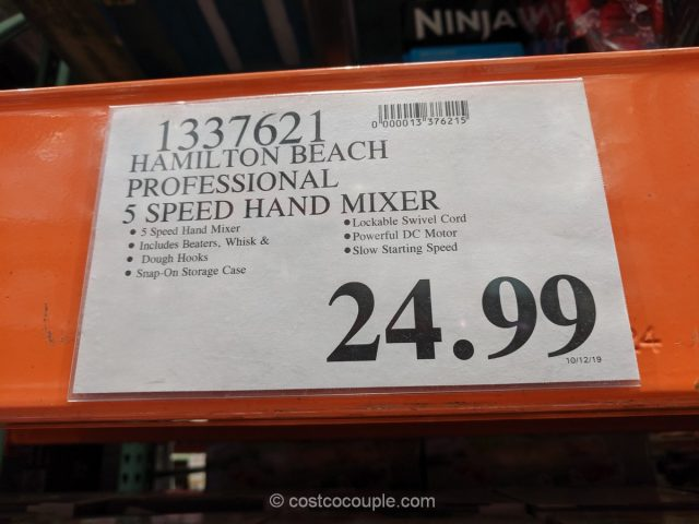 Hamilton Beach Professional 5-Speed Hand Mixer Costco