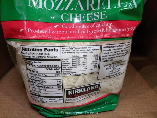 Kirkland Signature Shredded Mozzarella Costco