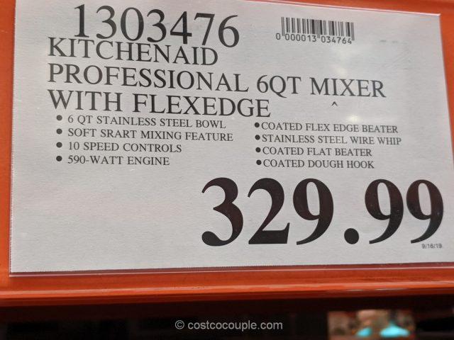 Kitchenaid Professional 6 Qt Mixer With Flexedge
