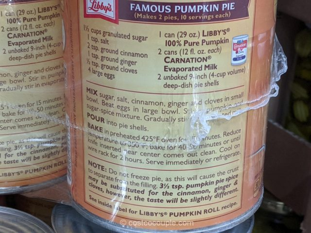 Libby's Canned Pumpkin Costco