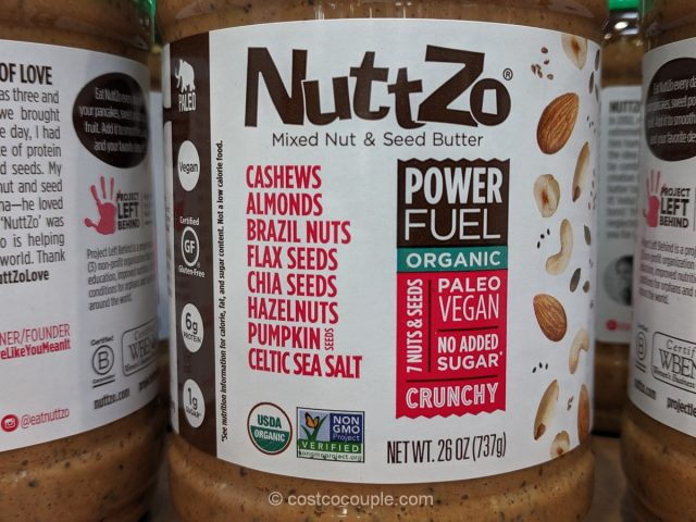 NuttZo Organic Mixed Nut and Seed Butter Costco