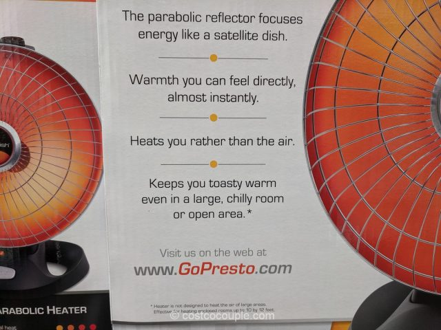 Presto Heat Dish Electric Heater Costco