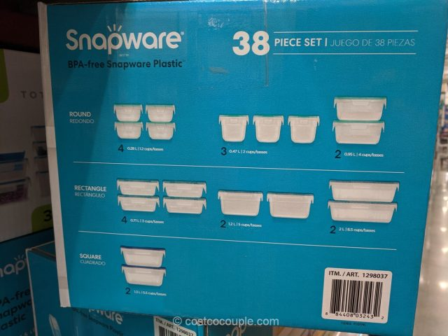 Snapware 38-Piece Plastic Storage Set Costco