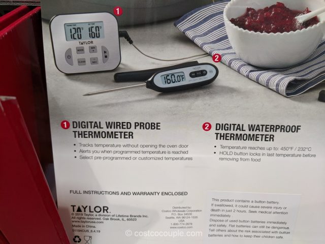 Taylor 3-Piece Thermometer and Timer Set Costco