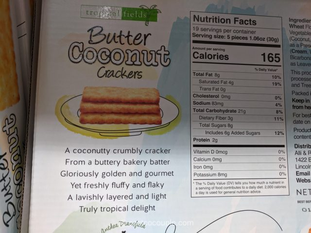 Tropical Fields Butter Coconut Crackers Costco