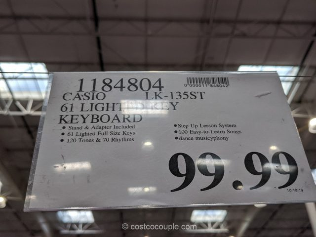 Casio 61 Lighted Keyboard Costco