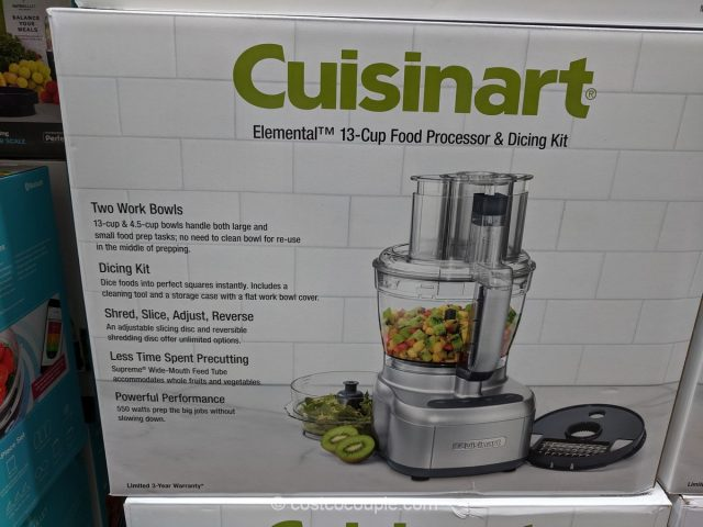 Cuisinart 13-Cup Food Processor with Dicing Kit Costco