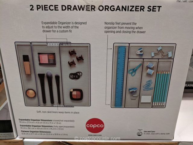 Copco 2-Piece Drawer Organizer Set Costco