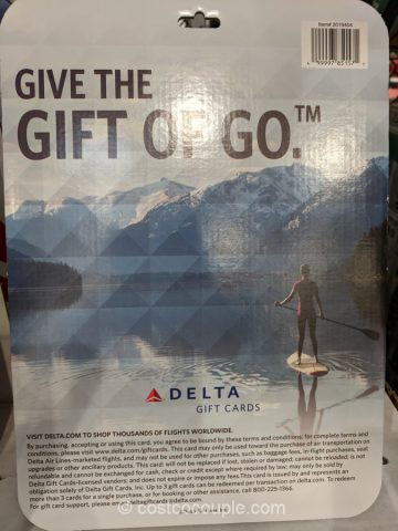 Delta Airlines $500 Gift Card Costco