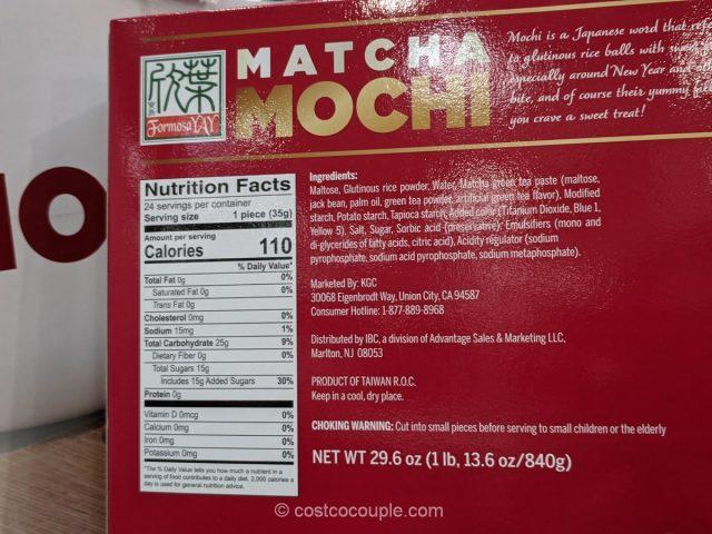 Formosa Yay Matcha Mochi Costco