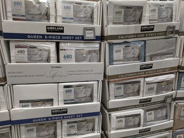 Kirkland Signature 6-Piece Queen Sheet Set Costco