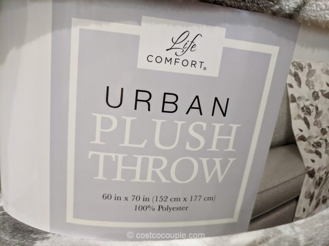 Life Comfort Urban Plush Throw Costco