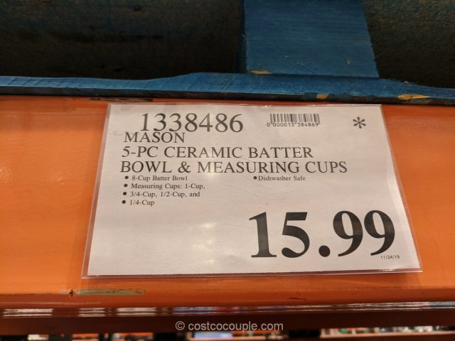 Mason 5-Piece Batter Bowl and Measuring Cup Set Costco