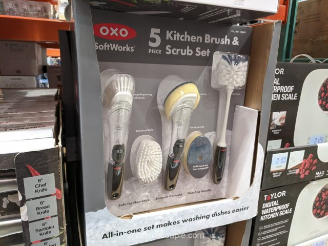 Oxo 5-Piece Kitchen Brush and Scrub Set Costco