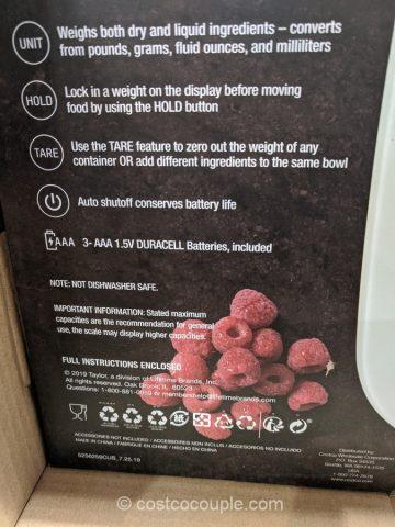 Taylor Digital Waterproof Kitchen Scale Costco