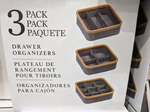 3-Piece Drawer Organizer Set Costco