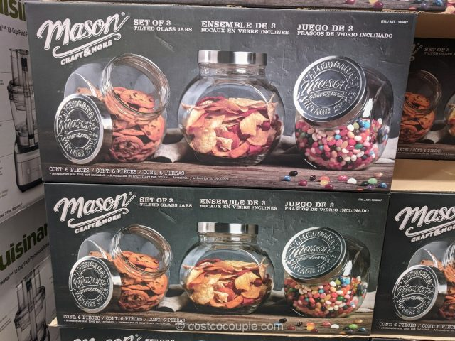 Mason 3-Piece Tilted Glass Canisters Costco