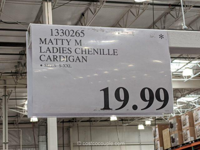 Matty M Ladies Chenille Cardigan Costco