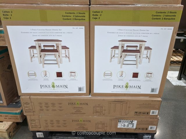 Pike & Main 5-Piece Counter Height Dining Set Costco
