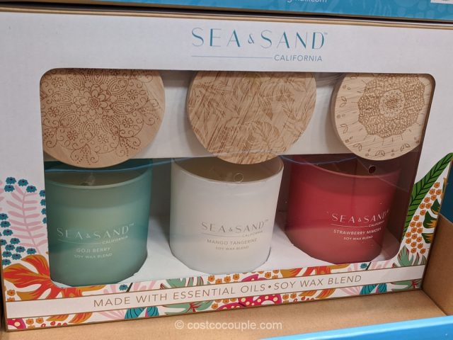 Sea & Sand Scented Candle Set Costco