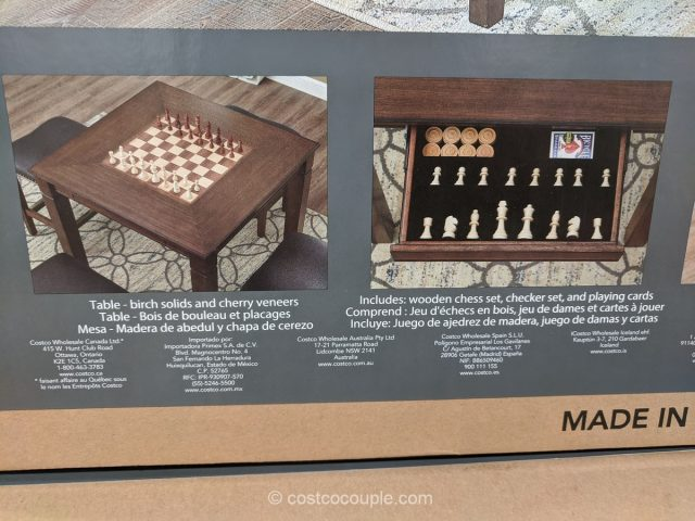 Well Universal 5-Piece Game Table Set Costco