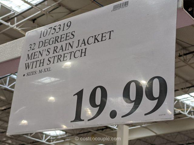 32 Degrees Men's Rain Jacket Costco
