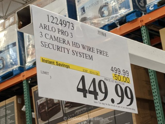 Arlo Pro 3 2K Wire Free Security System Costco