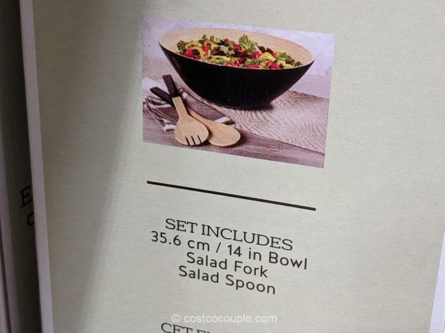 Bamboo Salad Bowl Set Costco